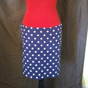 Merona Blue Polka-dot Pencil Skirt